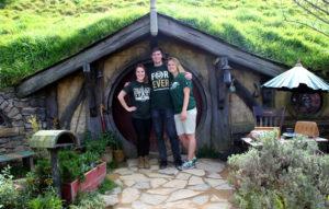 CSU students at Hobbiton Matamata New Zealand
