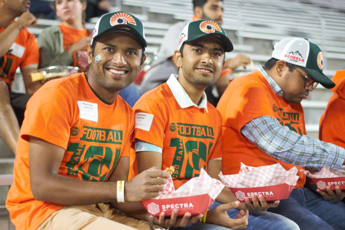 group of men at a football game