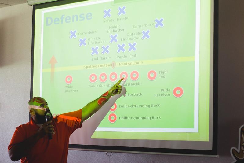 explaining football with a diagram