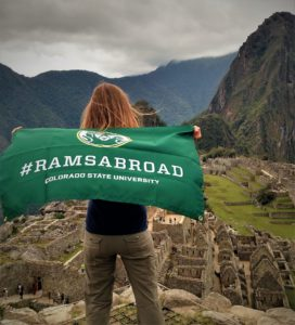 CSU student in Machu Picchu Peru