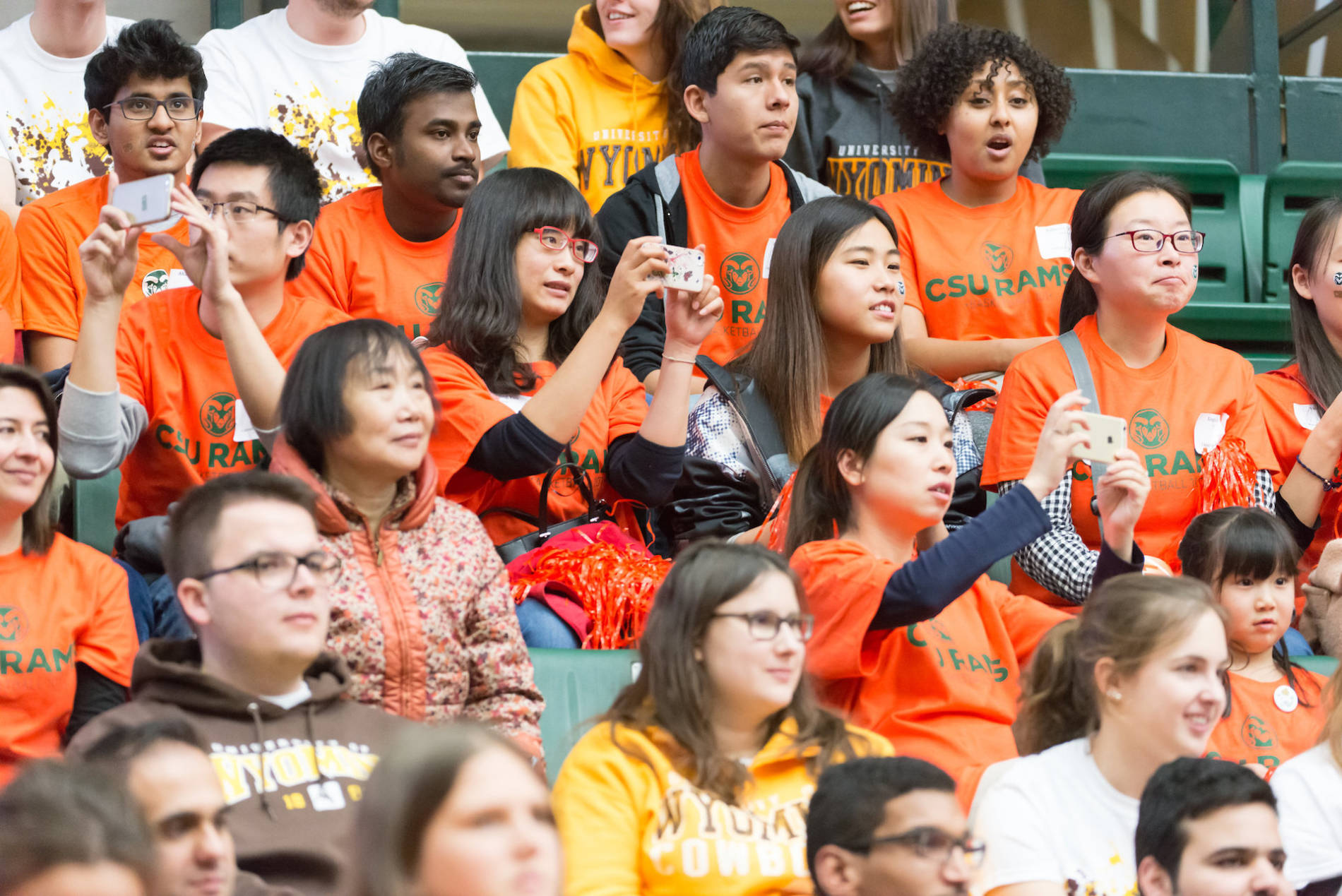fans in the crowd of a game