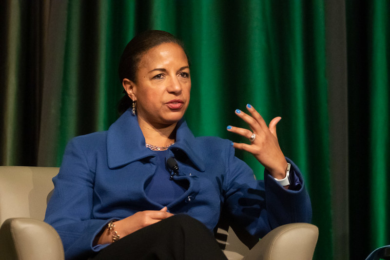 Susan Rice on stage