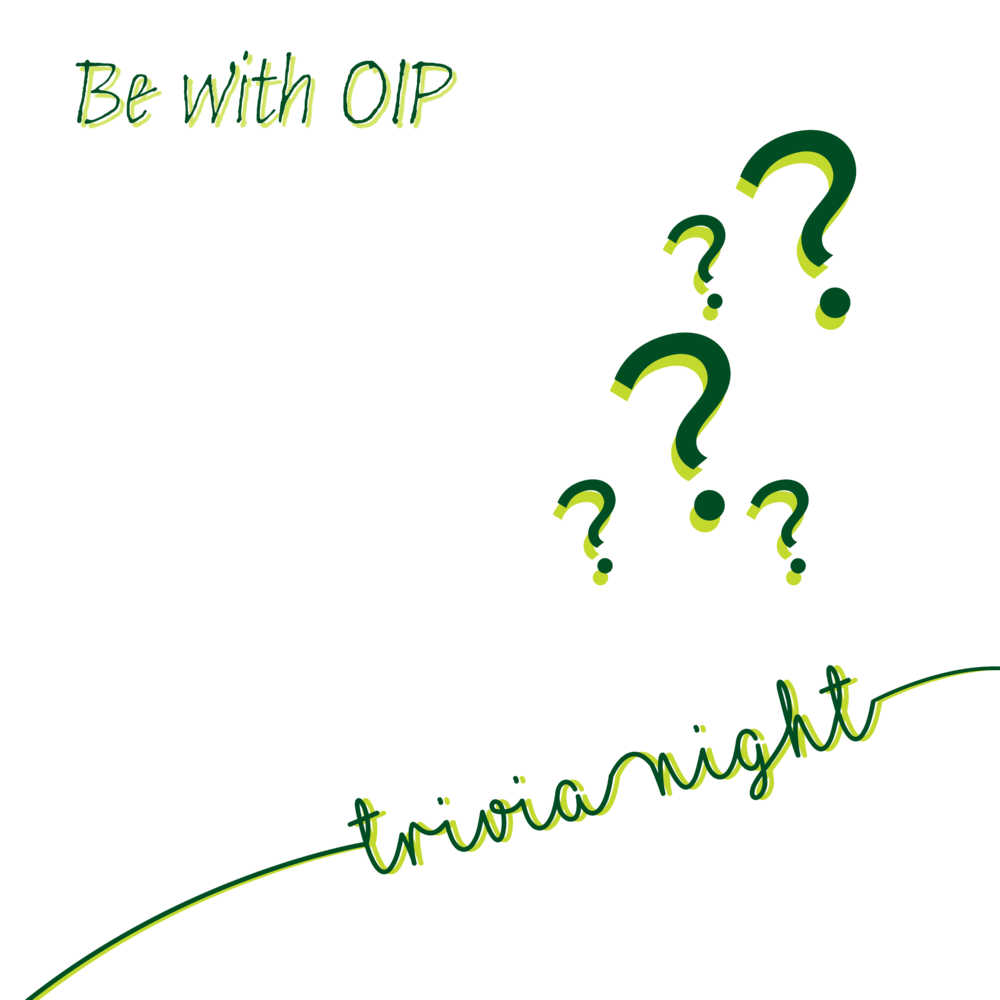 Be With OIP Web Event Graphic (Trivia)