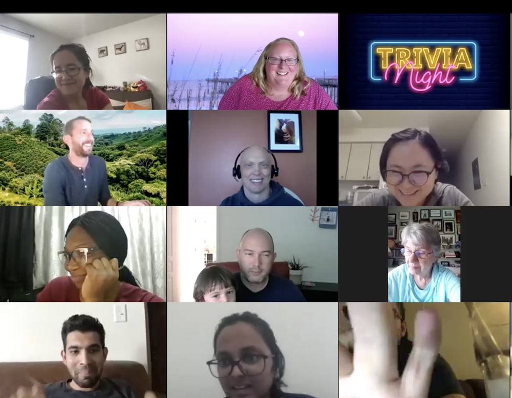 screenshot from ISSS Virtual Trivia Night